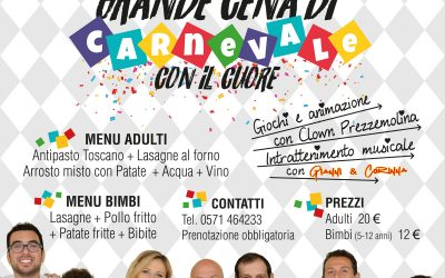 Grande cena di Carnevale con i ragazzi di 'RistorAzioni progetto autismo'